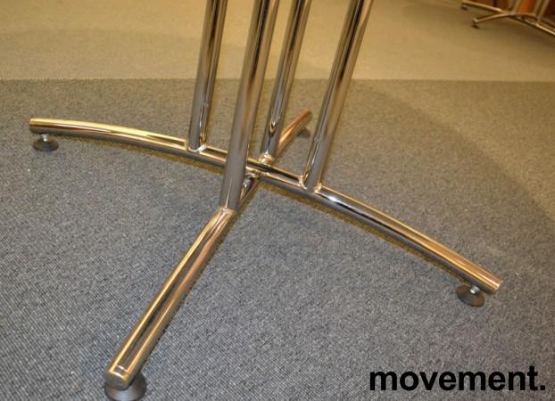 Rundt møtebord / konferansebord / kantinebord i hvitt / krom fra EFG, Ø=120cm, pent brukt bilde 4