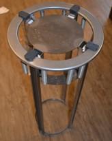 Tallerkendispenser i rustfritt stål for nedfelling i benkeplate, for opptil, Ø=24cm, pent brukt
