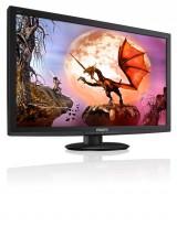 Flatskjerm til PC: Philips 273E3LH, 27toms LED, 1920x1080 FULL HD, HDMI/DVI/VGA, uten bordfot, pent brukt