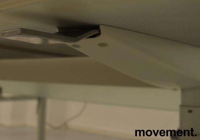 Lekkert understell med elektrisk hevsenk fra Holmris, Modell: Genese,  passer plate 180x90cm, hvitt / polert aluminum, pent brukt bilde 3