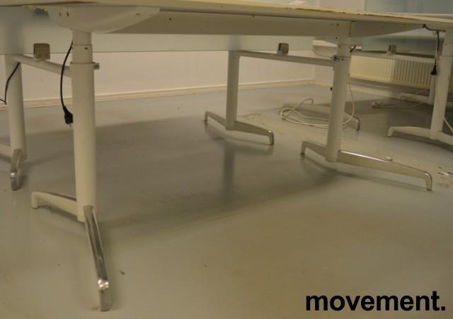 Lekkert understell med elektrisk hevsenk fra Holmris, Modell: Genese,  passer plate 180x90cm, hvitt / polert aluminum, pent brukt bilde 1