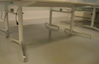 Lekkert understell med elektrisk hevsenk fra Holmris, Modell: Genese,  passer plate 180x90cm, hvitt / polert aluminum, pent brukt