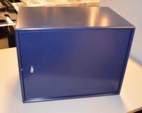 Montana-skap for oppheng på vegg i blått, 1 dører, 47cm bredde, 36cm høyde, 30d, pent brukt