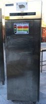 Metos fryseskap i rustfritt stål, 70cm bredde 205cm høyde, pent brukt