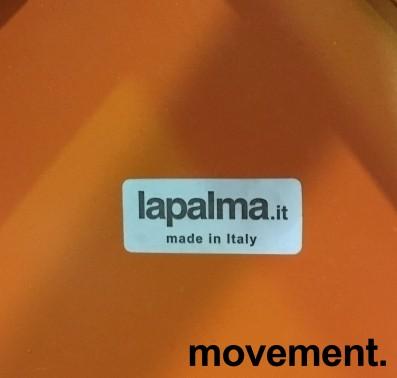 Solid kafestol / restaurantstol fra LaPalma, modell Stil, orange metall med antrasitt pute i polyuretan, brukt bilde 3