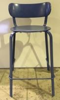 Barkrakk / barstol fra LaPalma, blåfarget metall, brukt
