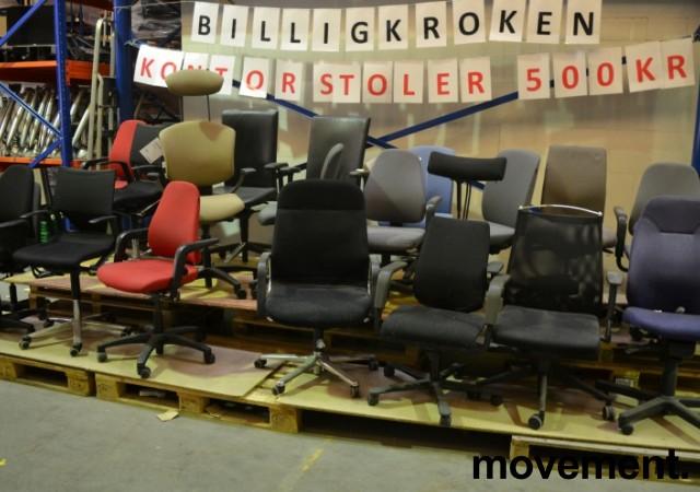 Kontorstoler fra forskjellige produsenter, Billigkroken - et utvalg av kontorstoler til 500 kr pr. stk, KUPPVARE bilde 1