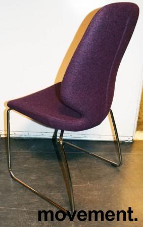 Kinnarps Monroe konferansestol i lilla ullfilt / vanger i krom, pent brukt bilde 2