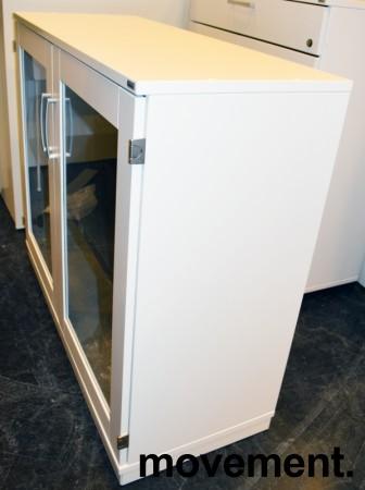 Kinnarps E-serie Vitrineskap med glassdør, 100cm bredde, 85,5cm høyde, pent brukt bilde 2