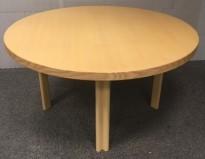 Designbord / rundt møtebord fra Artek, Design: Alvar Aalto, Ø=125cm, H=67,5cm, pent brukt