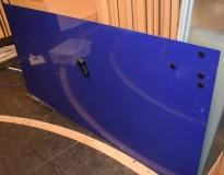 Lintex whiteboard i blått glass, 200x100cm, pent brukt