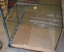 Glassmonter for å sette på disk: 60cm bredde, 40cm dybde, 40cm høyde, pent brukt