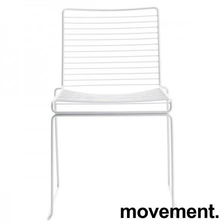 Hay Hee dining konferansestol i hvitlakkert metall, pent brukt bilde 1