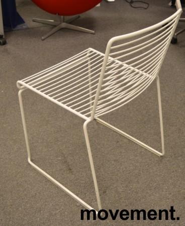 Hay Hee dining konferansestol i hvitlakkert metall, pent brukt bilde 3