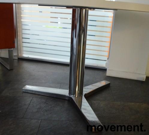 Rundt møtebord / konferansebord / kantinebord i hvitt / krom fra Materia, Ø=120cm, pent brukt bilde 2