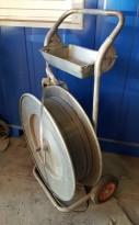 Avrullervogn for PP-bånd / stropping i galvanisert stål, pent brukt