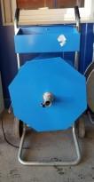 Avrullervogn for PP-bånd / stropping i blålakkert stål, pent brukt