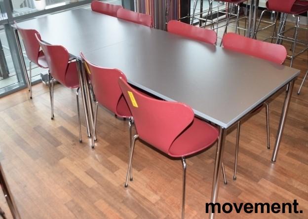 Arne Jacobsen 7er-stol / syver-stol, model 3107, i 580 Mørkerød, understell i krom, pent brukt bilde 4