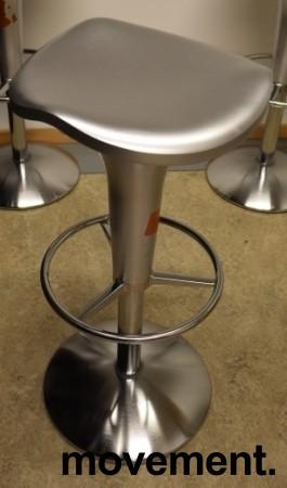 Barstol fra Rexite i sølvgrå farge, justerbar sittehøyde 52-78cm, pent brukt bilde 3