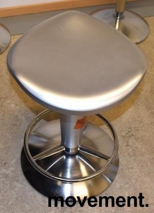 Barstol fra Rexite i sølvgrå farge, justerbar sittehøyde 52-78cm, pent brukt bilde 4