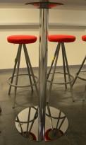Søyle / høyt understell / søylefot i krom til f.eks. rund bordplate eller møtebord, H=109cm, pent brukt