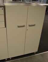 Martela Combo ringpermreol med dører i lys grå,3H, 127 cm H, pent brukt