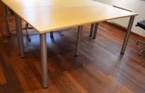Skrivebord i bjerk, 160x80cm, pent brukt