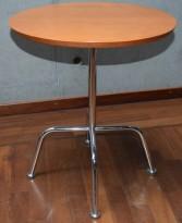Loungebord / sofabord, Lammhults Cinema-serie, kirsebær / krom, Ø=50cm, H=58cm, pent brukt