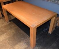 Møtebord / kantinebord / benkebord i heltre eik, 170x90cm, pent brukt