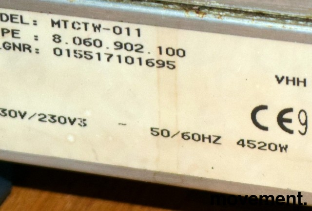 Bravilor Bonamat Matic Twin, dobbel kaffetrakter, for 3fas 4650W, fast vanntilkopling , pent brukt bilde 3