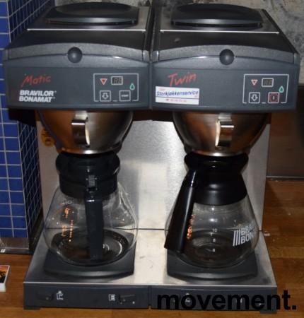 Bravilor Bonamat Matic Twin, dobbel kaffetrakter, for 3fas 4650W, fast vanntilkopling , pent brukt bilde 2
