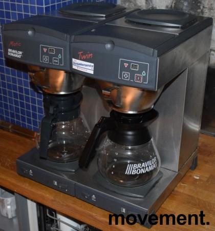 Bravilor Bonamat Matic Twin, dobbel kaffetrakter, for 3fas 4650W, fast vanntilkopling , pent brukt bilde 1
