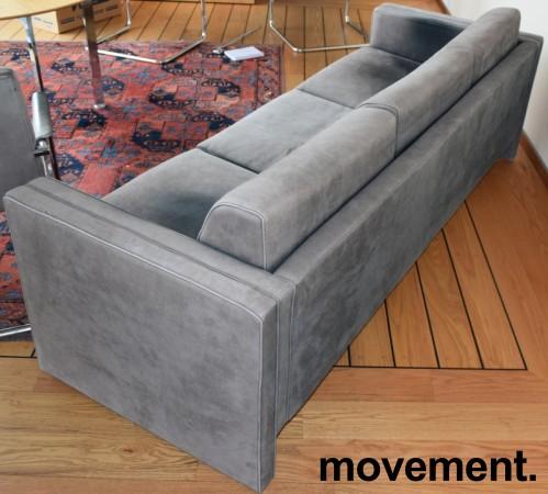 Loungesofa / designsofa, eldre modell fra Walter Knoll i grått skinn, 222cm bredde, brukt bilde 5