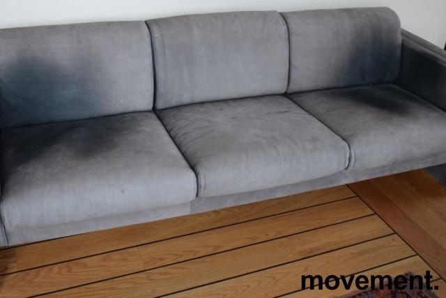 Loungesofa / designsofa, eldre modell fra Walter Knoll i grått skinn, 222cm bredde, brukt bilde 7