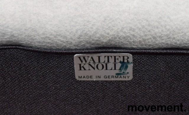 Loungesofa / designsofa, eldre modell fra Walter Knoll i grått skinn, 222cm bredde, brukt bilde 6