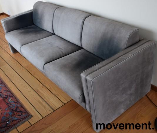 Loungesofa / designsofa, eldre modell fra Walter Knoll i grått skinn, 222cm bredde, brukt bilde 4
