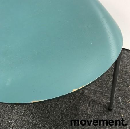 Arne Jacobsen 7er-stol / syver-stol, model 3107, i 955 Støvgrønn, understell i krom, pent brukt bilde 3