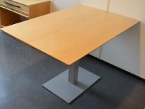 Lite møtebord i bjerk, 120x80cm, pent brukt