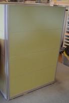 Kinnarps Rezon skillevegg, 144cm høyde i lys grønn, 100cm bredde, pent brukt