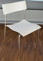 Lammhults Campus Air konferansestol / stablestol i hvitt / krom, pent brukt