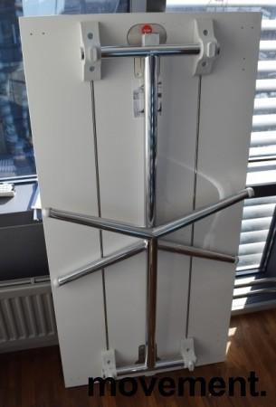 Lekkert klappbord / sammenleggbart kursbord / arbeidsbord i hvitt/krom, 120x60cm, brukt bilde 3