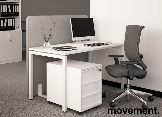 Ypperlig Skrivebord / kantinebord i hvitt,140x70cm, høyde 74cm, NY / U/BRUKT NR-21