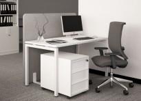 Skrivebord / kantinebord i hvitt, 140x70cm, høyde 74cm, NY / U/BRUKT