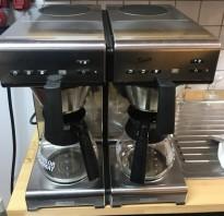 Dobbel proff-kaffetrakter fra Bravilor Bonamat, modell Twin, 400V 3fas, fast vanntilkopling, pent brukt