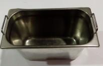 Gastronorm / GN-bakker, rustfritt stål, 11stk 1/3 høye med hank og lokk selges samlet, pent brukt