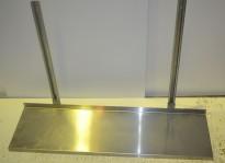Vegghylle i rustfritt stål for storkjøkken, 110m bredde / 31cm dybde, 1 hylleplan, pent brukt