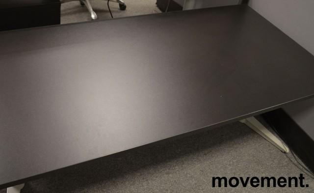 Sort, rektangulær bordplate til skrivebord 160x80cm, NY/UBRUKT