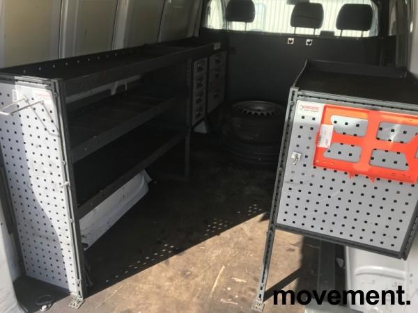 Bilinnredning for VW Transporter T5/T6, komplett med 2 moduler og uttrekksambolt på skinne, pent brukt bilde 12