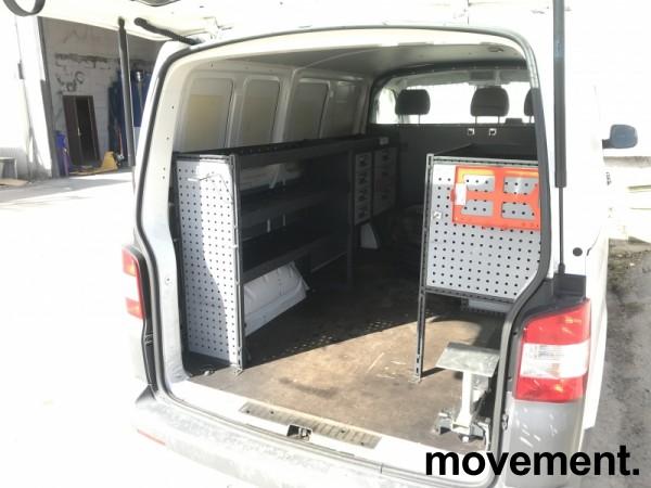 Bilinnredning for VW Transporter T5/T6, komplett med 2 moduler og uttrekksambolt på skinne, pent brukt bilde 13