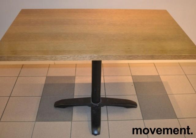 Kafebord med bordplate i eik finer, 120x70cm bordplate, 77cm høyde, pent brukt bilde 2
